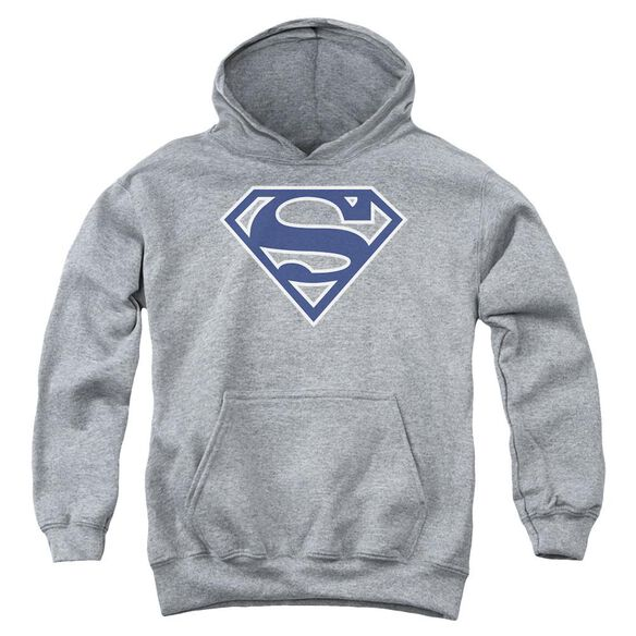 Superman Navy & White Shield Youth Pull Over Hoodie Athletic