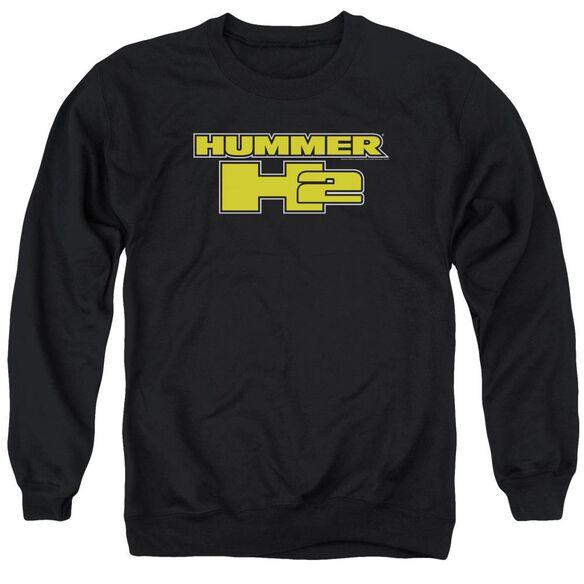 Hummer H2 Block Logo Adult Crewneck Sweatshirt