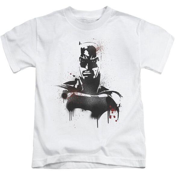 Batman V Superman Batman Spray Short Sleeve Juvenile White T-Shirt