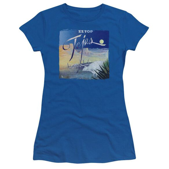 Zz Top Tejas Short Sleeve Junior Sheer Royal T-Shirt