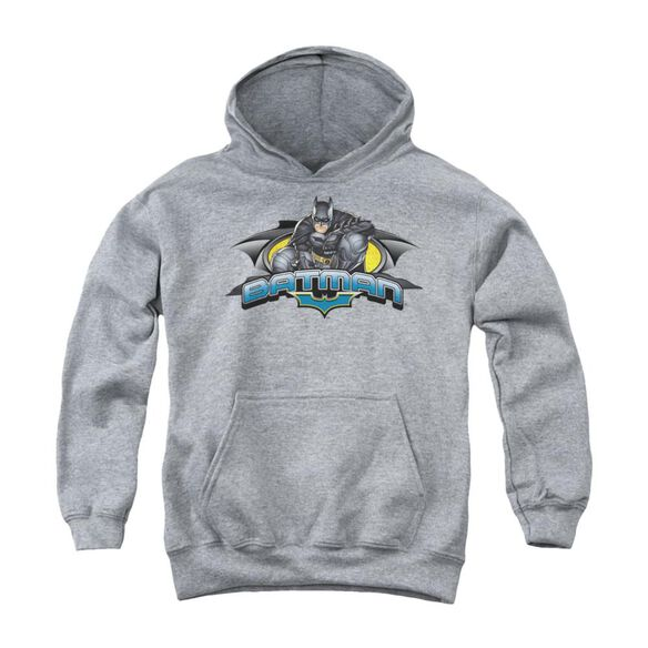 Dark Knight Crouched Knight Youth Pull Over Hoodie
