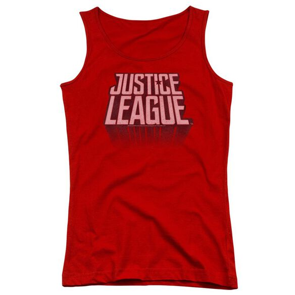 Justice League Movie League Distressed Juniors Tank Top