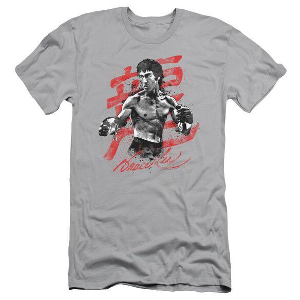 Bruce Lee Ink Splatter Short Sleeve Adult T-Shirt