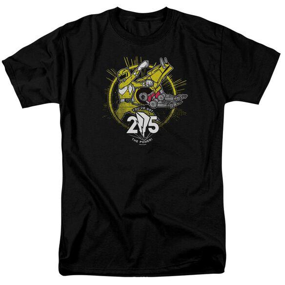 Power Rangers Yellow 25 Short Sleeve Adult T-Shirt