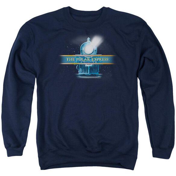 Polar Express Train Logo Adult Crewneck Sweatshirt