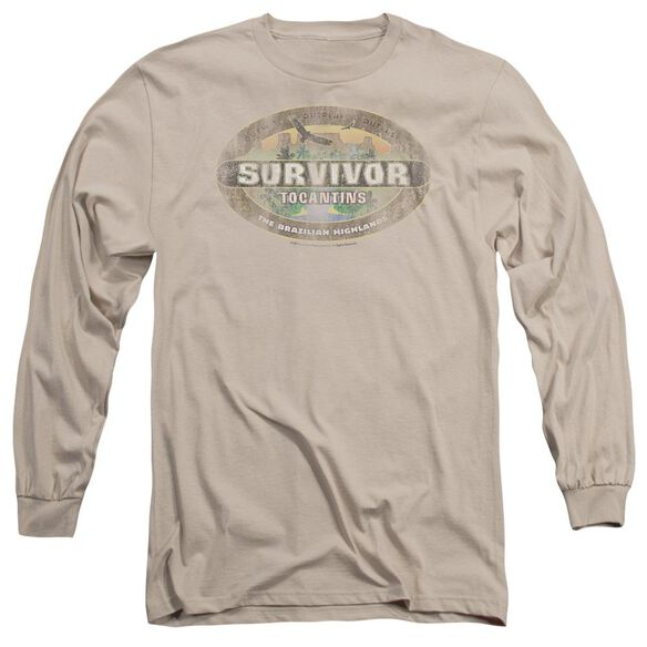 Survivor Tocantins Distressed Long Sleeve Adult T-Shirt