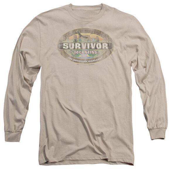 Survivor Tocantins Distressed Long Sleeve Adult T-Shirt
