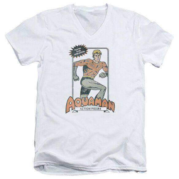 Dc Am Action Figure Short Sleeve Adult V Neck T-Shirt