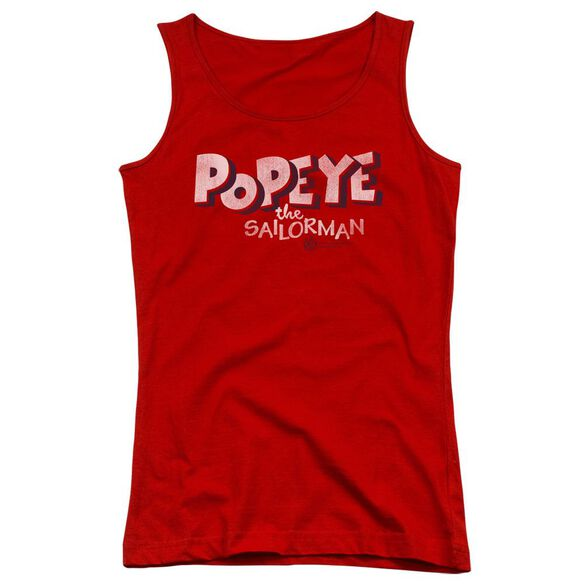 Popeye 3 D Logo Juniors Tank Top