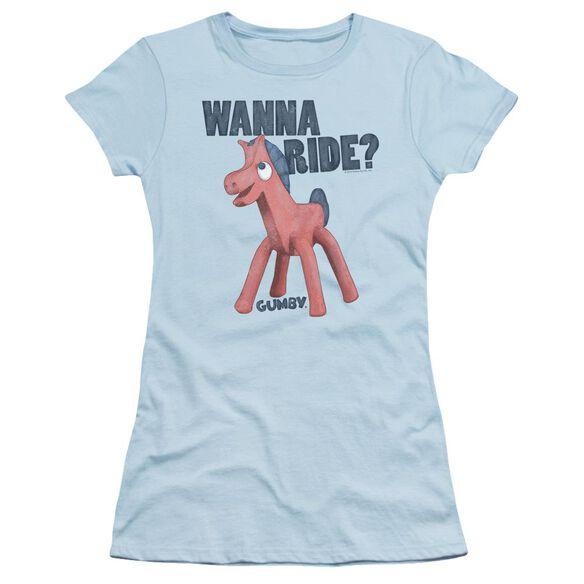 GUMBY WANNA RIDE - S/S JUNIOR SHEER - LIGHT BLUE T-Shirt