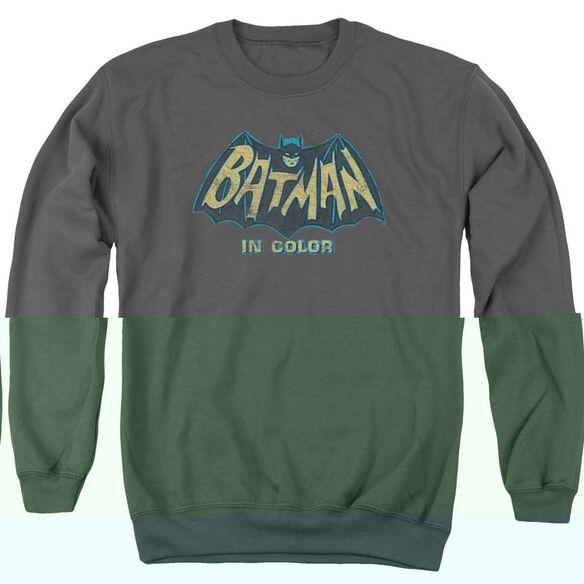 Batman Classic TV In Color - Adult Crewneck Sweatshirt - Charcoal