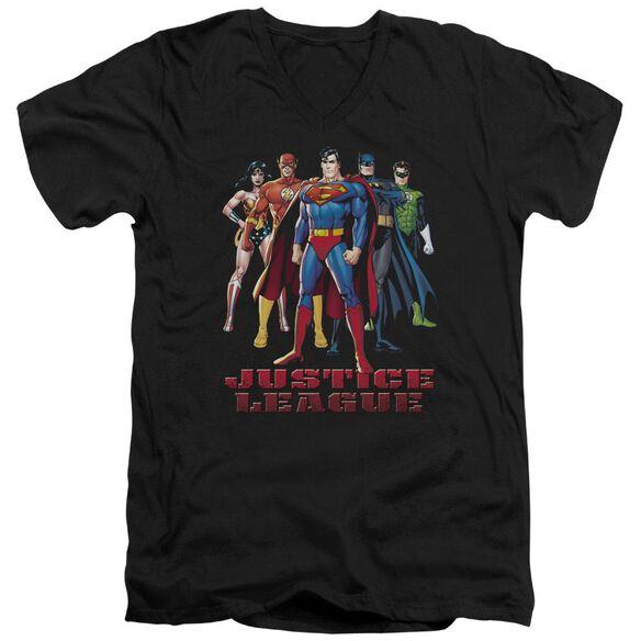Jla In League Short Sleeve Adult V Neck T-Shirt