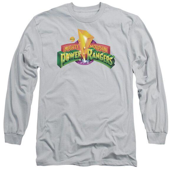 Power Rangers Mmpr Logo Long Sleeve Adult T-Shirt