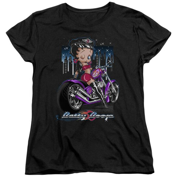 Betty Boop City Chopper Short Sleeve Womens Tee T-Shirt