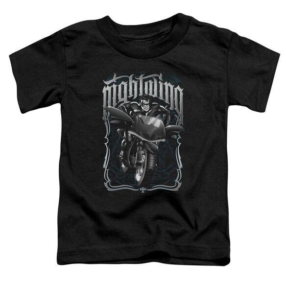 BATMAN NIGHTWING BIKER - S/S TODDLER TEE - BLACK - T-Shirt