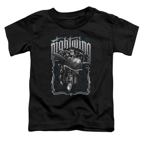 Batman Nightwing Biker Short Sleeve Toddler Tee Black Sm T-Shirt