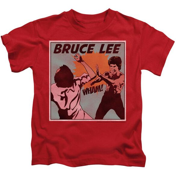 Bruce Lee Comic Panel Short Sleeve Juvenile T-Shirt