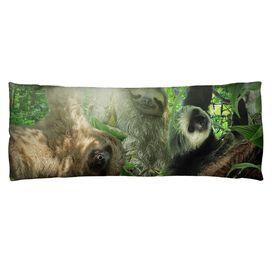 Sloth Club Microfiber Body Pillow
