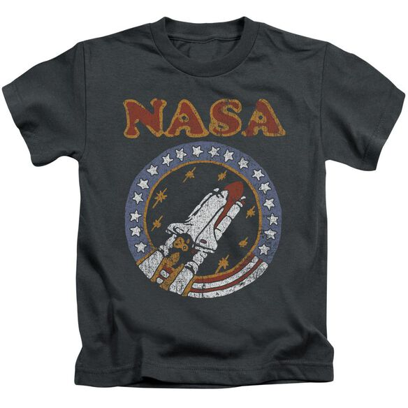 Nasa Retro Shuttle Short Sleeve Juvenile Charcoal T-Shirt