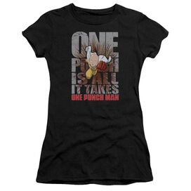 One Punch Man One Punch Is All It Takes Hbo Short Sleeve Junior Sheer T-Shirt