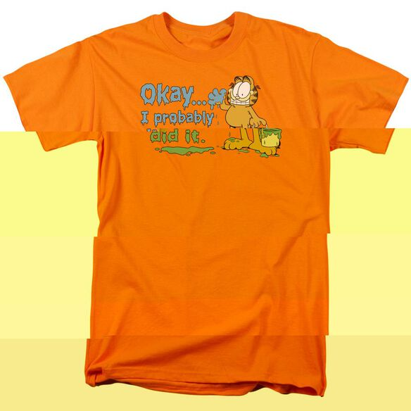 GARFIELD I PROBABLY DID IT-S/S ADULT 18/1 - ORANGE T-Shirt