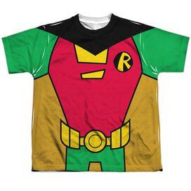 Teen Titans Go Robin Uniform Short Sleeve Youth Poly Crew T-Shirt