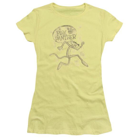 Pink Panther Catch Me Short Sleeve Junior Sheer T-Shirt