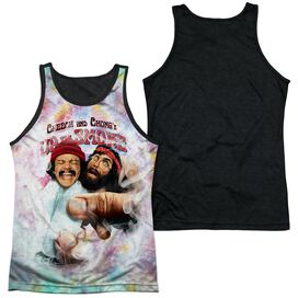 Up In Smoke Fried Tie Dyed Adult Poly Tank Top Black Back