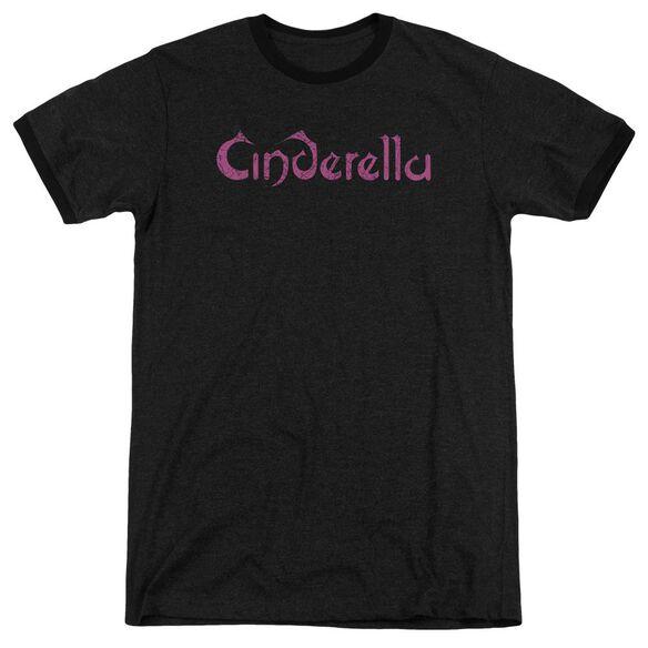 Cinderella Logo Rough Adult Heather Ringer