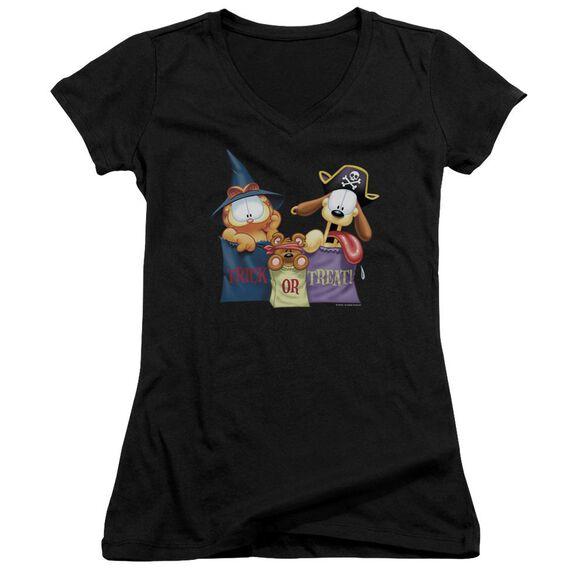 Garfield Grab Bags Junior V Neck T-Shirt
