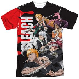 Bleach Group Attack Short Sleeve Adult Poly Crew T-Shirt
