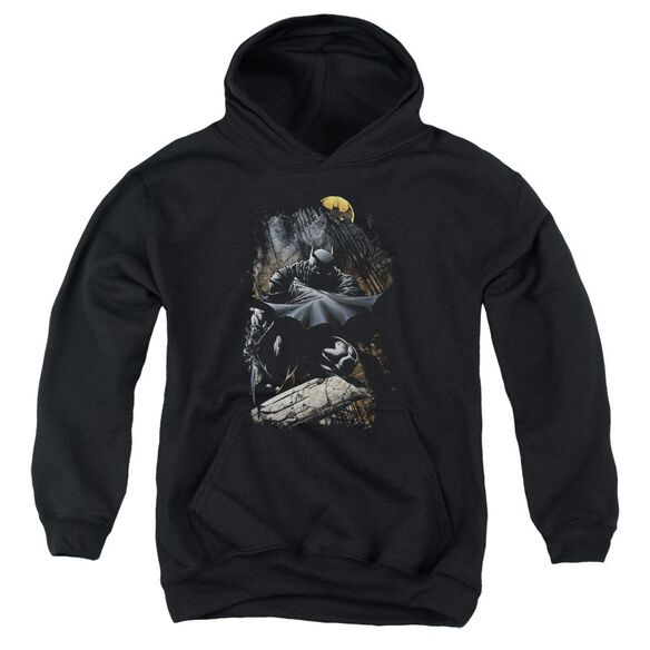 Batman Sweeping Cape Youth Pull Over Hoodie