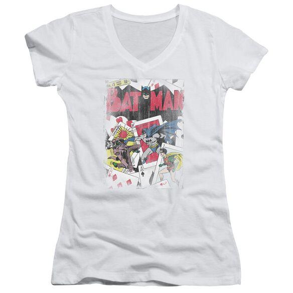 Dc Number 11 Distressed Junior V Neck T-Shirt