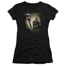 Injustice Gods Among Us Battle Of The Gods Short Sleeve Junior Sheer T-Shirt