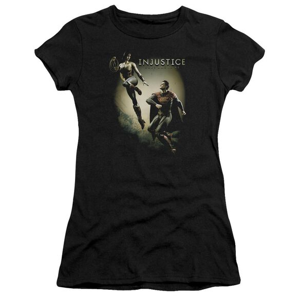 Injustice Gods Among Us Battle Of The Gods Short Sleeve Junior Sheer T-Shirt