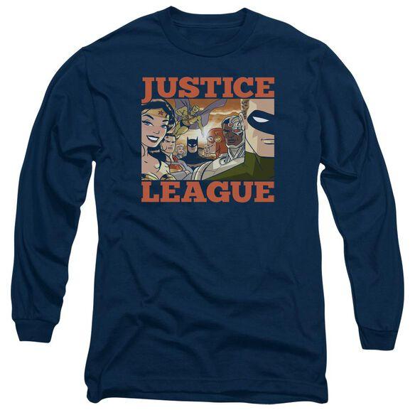 Jla New Dawn Group Long Sleeve Adult T-Shirt