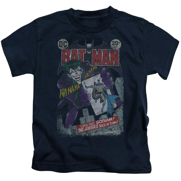 Batman #251 Distressed Short Sleeve Juvenile Navy T-Shirt