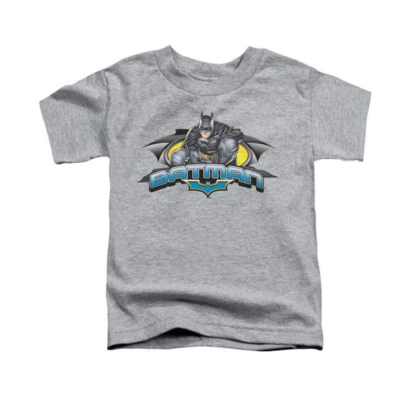 Dark Knight Crouched Knight Short Sleeve Toddler Tee Athletic Heather T-Shirt