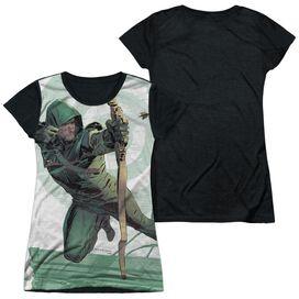Arrow City Bullseye Short Sleeve Junior Poly Black Back T-Shirt