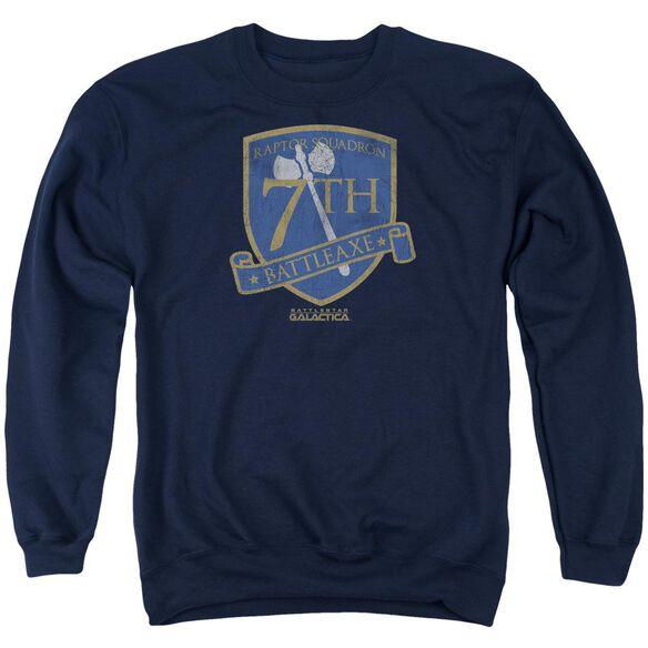 Bsg Battleaxe Badge Adult Crewneck Sweatshirt