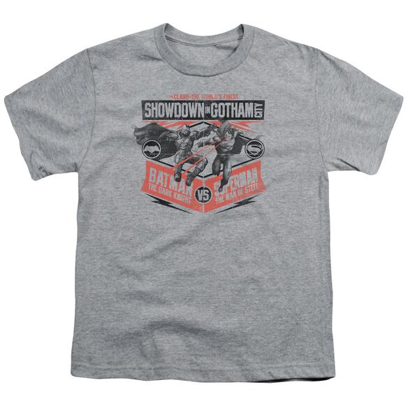 Batman V Superman Showdown In Gotham Short Sleeve Youth Athletic T-Shirt