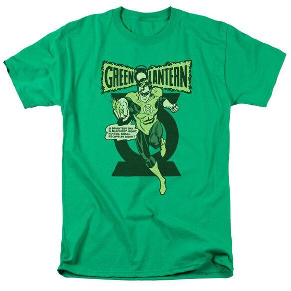 GREEN LANTERN RETRO OATH - S/S ADULT 18/1 - KELLY GREEN T-Shirt