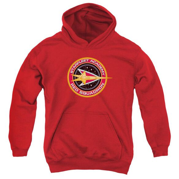 Star Trek Red Squadron-youth Pull-over Hoodie - Red