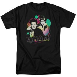 Wham The Edge Of Heaven Short Sleeve Adult Black T-Shirt