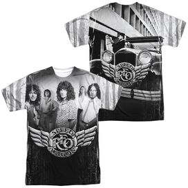 Reo Speedwagon Want A Ride (Front Back Print) Short Sleeve Adult Poly Crew T-Shirt