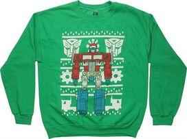 Transformers Optimus Prime Christmas SweaT-Shirt