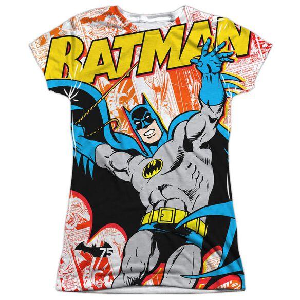 Batman 75 Panels Short Sleeve Junior Poly Crew T-Shirt