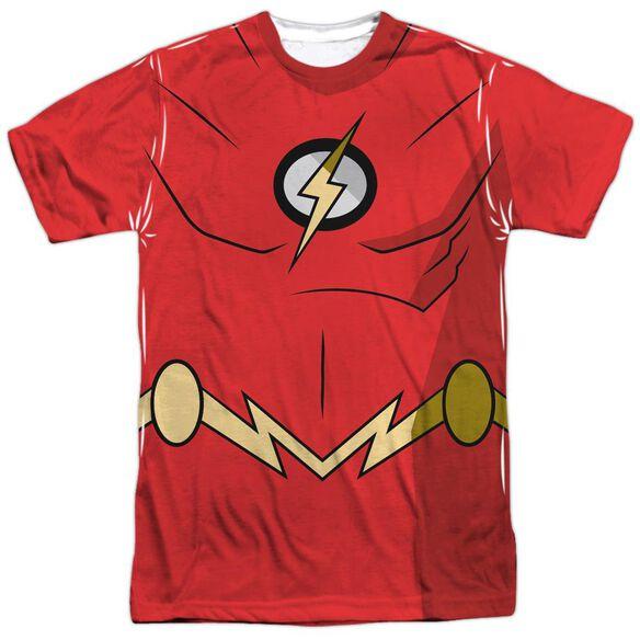 Batman Unlimited Flash Uniform Short Sleeve Adult Poly Crew T-Shirt
