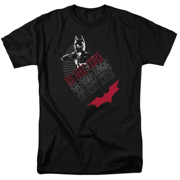 Dark Knight Stance Short Sleeve Adult Black T-Shirt