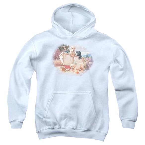 Wildlife Lunch Break Lab Pups Youth Pull Over Hoodie